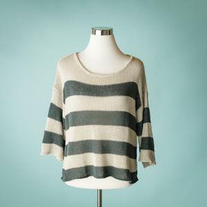 Anthropologie Wooden Ships M Stripe Sweater